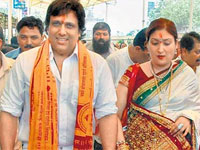 govinda with wife Sunita