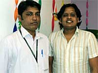 Prashanth Raj with Shekhar H Hooli