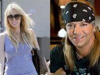 Tish Cyrus and Bret Michaels