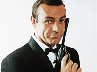 Sean Connery with James Bond Gun