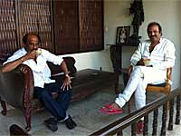 Rajinikanth with Mohan Babu