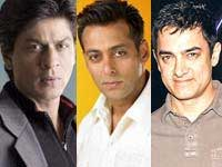Aamir, Salman and Shahrukh