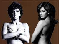Mandira Bedi and Bipasha Basu