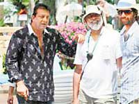 Sanjay Dutt with the walking stick