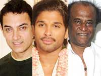 Aamir Khan, Allu Arjun and Rajinikanth