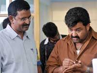 Blessy and Mohanlal