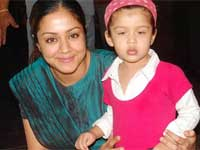 Jyothika with her daughter Diya