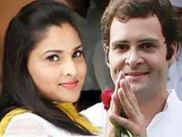 Ramya and Rahul Gandhi