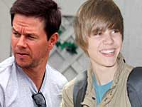 Justin Bieber and Mark Wahlberg