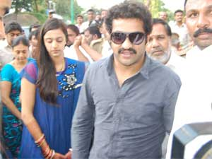 Junior NTR-Pranathi in Tirupathi