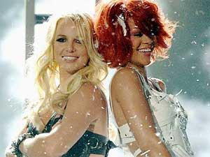 Britney Spears and Rihanna