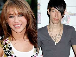 Miley and Trace Cyrus