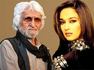 Madhuri Dixit and MF Hussain