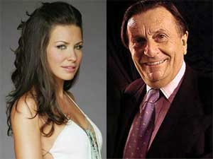Evangeline Lilly and Barry Humphries