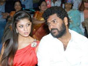 Prabhu Deva with his girlfriend Nayantara