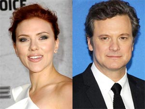 Colin Firth and Scarlett Johansson
