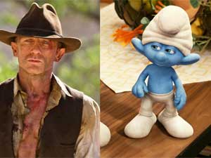 Cowboys and Aliens and The Smurfs