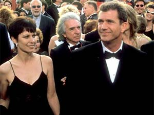 Mel Gibson and his estranged wife Robyn
