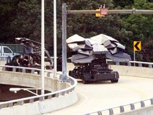 Batman's new flying vehicle in The Dark Knight Rises