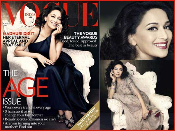 Madhuri Dixit on Vogue cover 2011