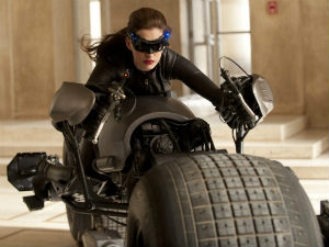 Anne Hathaway's high-speed Batpod in Dark Knight Rises
