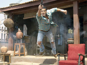 Salman Khan performs an action scene