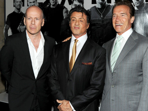 Arnold and Bruce Willis