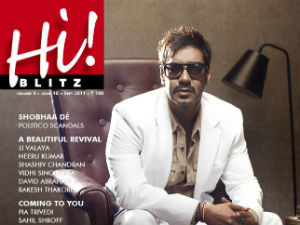 Ajay Devgn on the cover of Hiblitz magazine