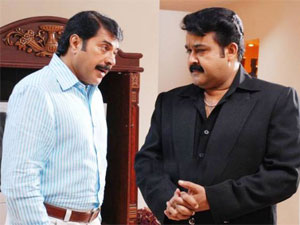 Mammootty with Mohanlal