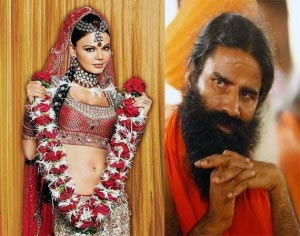Rakhi Sawant and Baba Ramdev