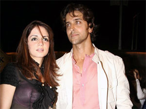 Sussanne with hubby Hrithik Roshan