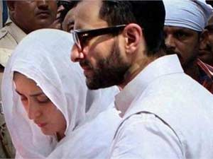 Saif, Kareena at the funeral of Mansoor Ali Khan Pataudi