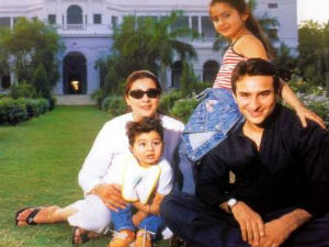 Saif and Amrita with their kids