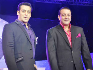 Salman Khan and Sanjay Dutt on Big Boss 5