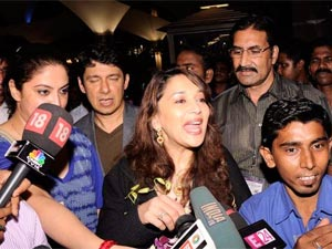 Madhuri Dixit at the airport
