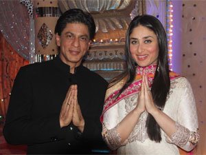 Kareena Kapoor with Shahrukh Khan