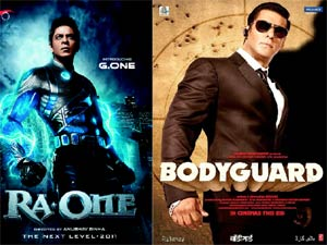Ra One and Bodyguard