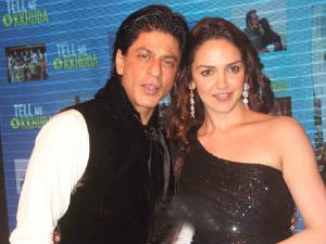 Esha Deol and Shahrukh Khan