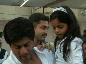 Shahrukh Khan with daughter Suhana