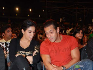 Salman Khan and Asin Thottumkal