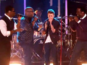 Justin Bieber and Boyz II Men