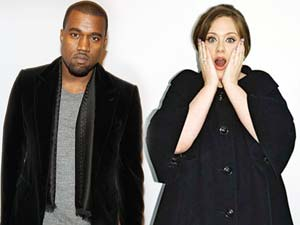 Kanye West and Adele