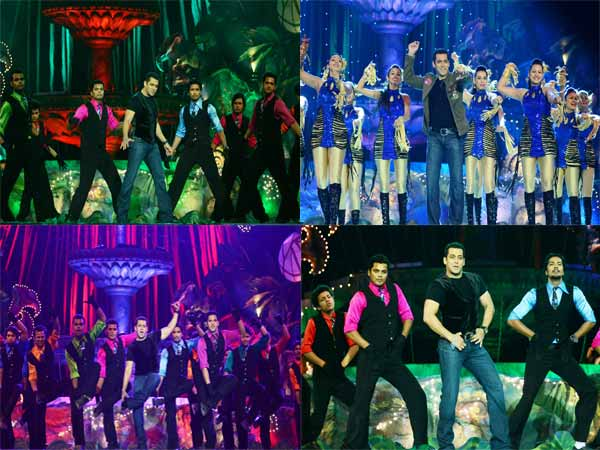 Salman Khan's dhinkachika act at Colors Golden Petal Awards