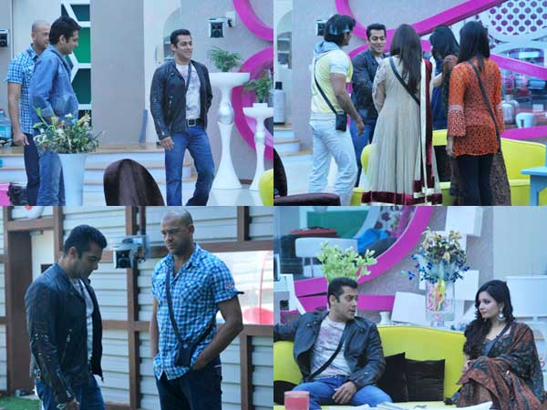 Salman Khan inside the Bigg Boss house
