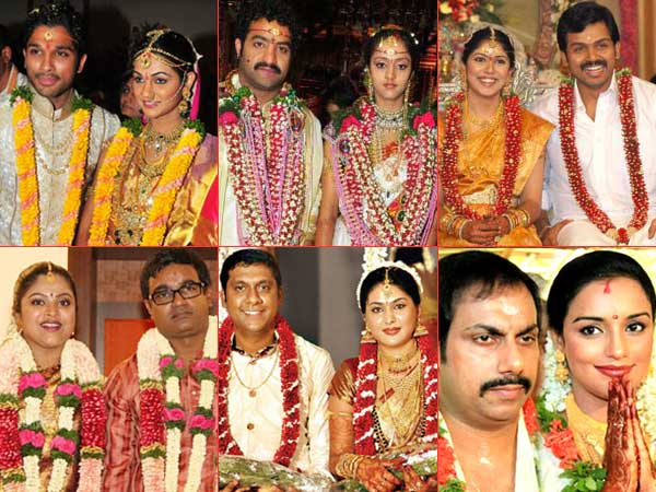 South Indian Celebrities Tamil Stars Marriage Telugu Weddings Malluwood Sandalwood Filmibeat