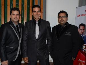 Akshay Kumar with Chef Kunal and Chef Ajay
