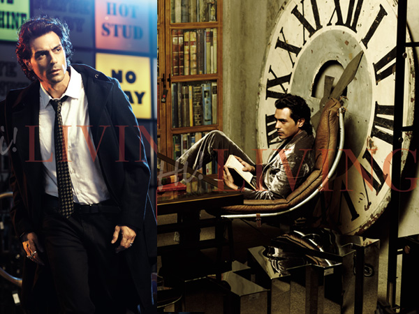 actor arjun rampal cover boy hi living magazine show. Black Bedroom Furniture Sets. Home Design Ideas
