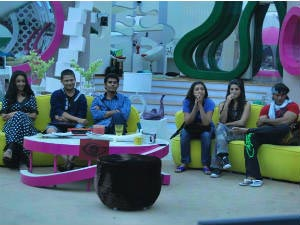 Amar Upadhyay with Bigg Boss 5 housemates