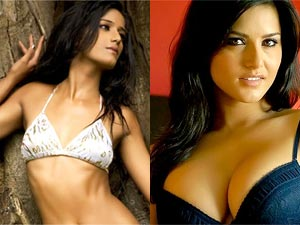 Poonam Pandey and Sunny Leone