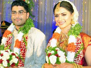 Mamta Mohandas with husband Prajith Padmanabhan